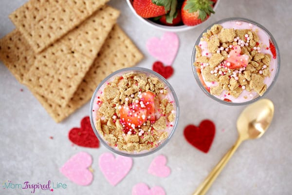 Valentine's Day snack for kids.