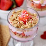 Strawberry yogurt parfait.
