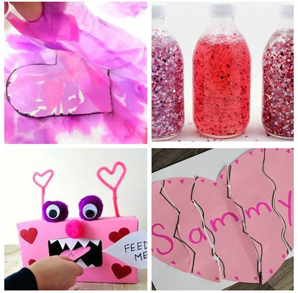 Valentine's Day activities that teach math, literacy, alphabet and fine motor skills.