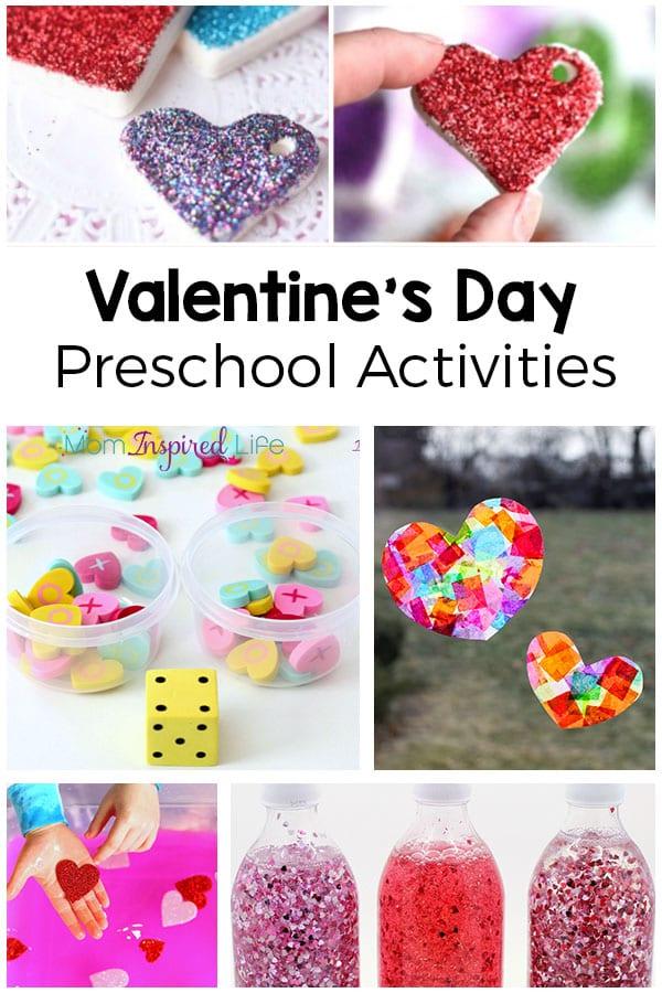 Valentine's Day activities for preschoolers. Fun engaging heart activities.