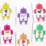 Beginning Blends Robot Puzzles