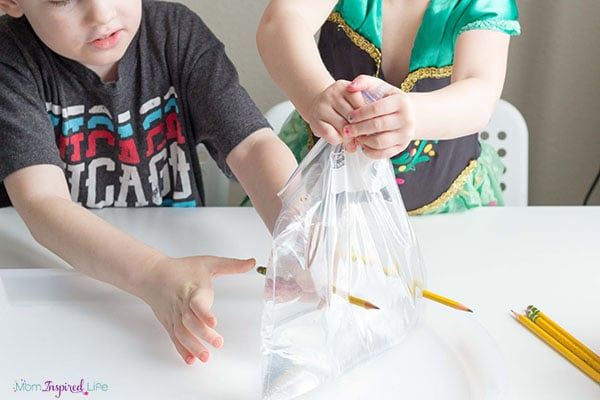 Science experiment for preschoolers.
