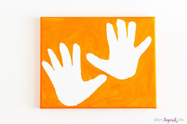 Handprint painting idea for Mother's Day, Father's Day, Grandparent's Day or holiday gifts.
