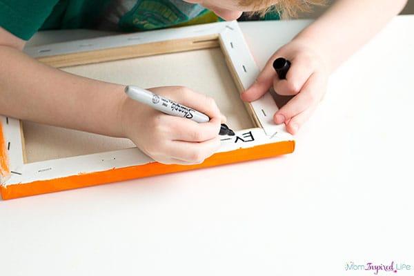 Handprint painting idea. A fun art activity for kids.