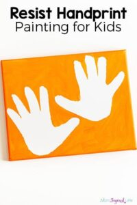 Resist Handprint Paintings That are Really Easy to Make!