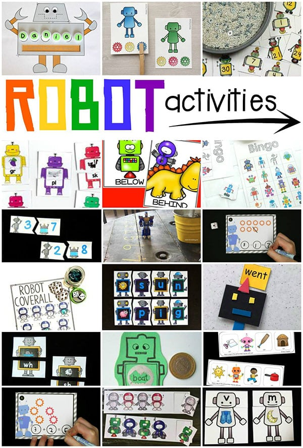 Super fun robot activities for kids!