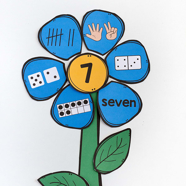 Spring theme math activity for kids.