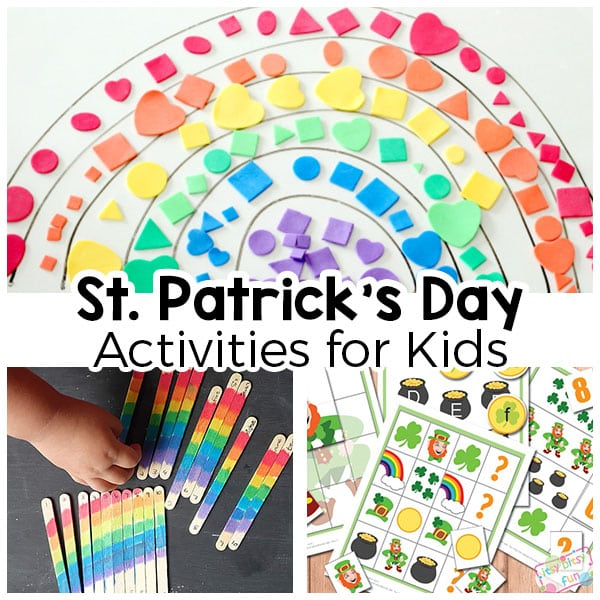 Fun activities for St. Patrick's Day! From rainbows to leprechauns and pots of gold!