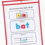 Teaching Word Families with Roll, Build and Write Mats