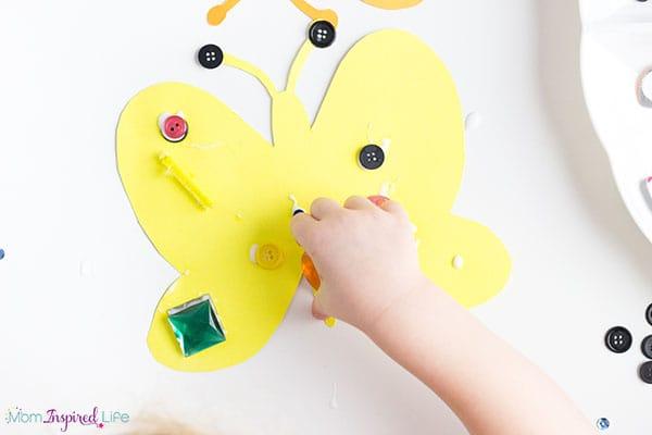 Butterfly art for preschoolers.