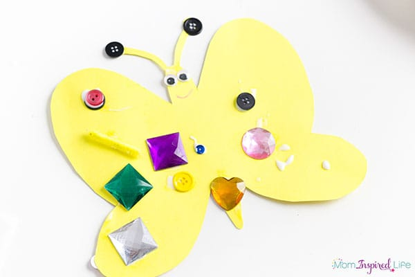 Decorate a butterfly art project for spring.