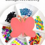 Decorate a Butterfly Collage Art Activity for Spring