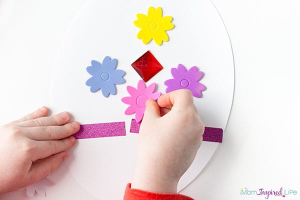 Decorate an Easter egg art activity for spring.