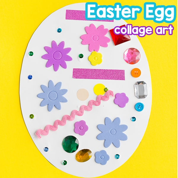 Easter egg craft that kids love! A fun spring art activity!
