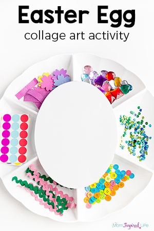 Decorate an Easter Egg Collage Art Activity