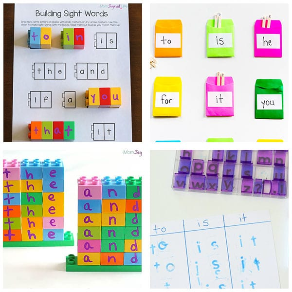Fun activities for kids to learn sight words.