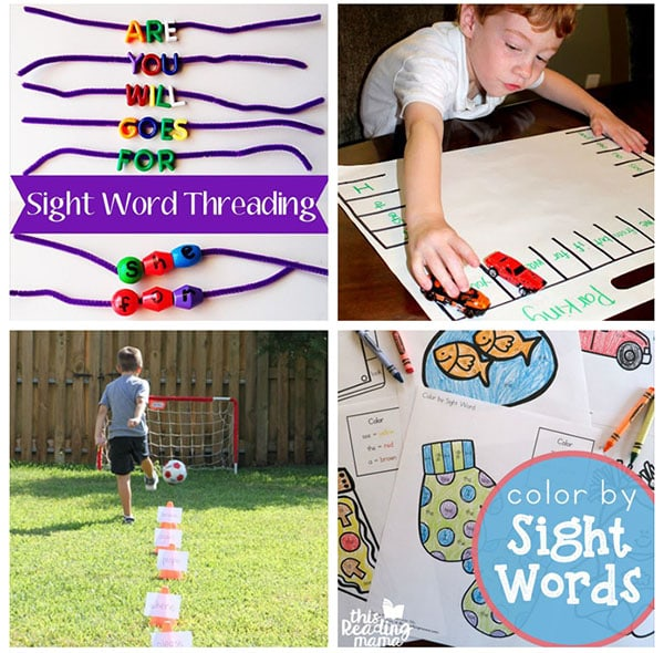 Hands-on ways to teach sight words to kids in kindergarten or first grade.