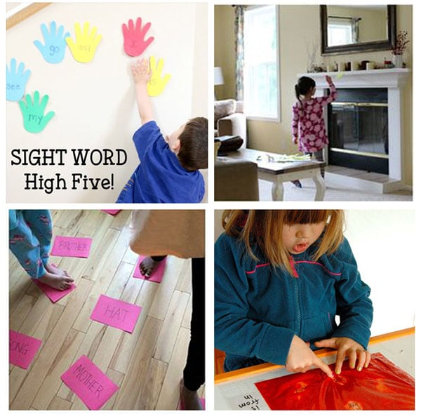 Tips and ideas for teaching sight words to kids.