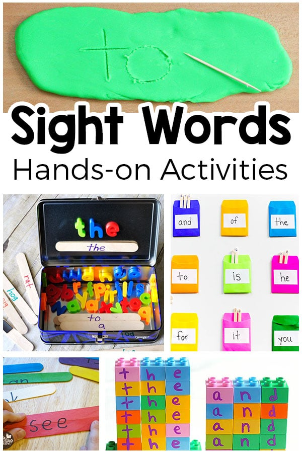 Hands-on sight word activities that your kids will enjoy! Fun ways to teach sight words!