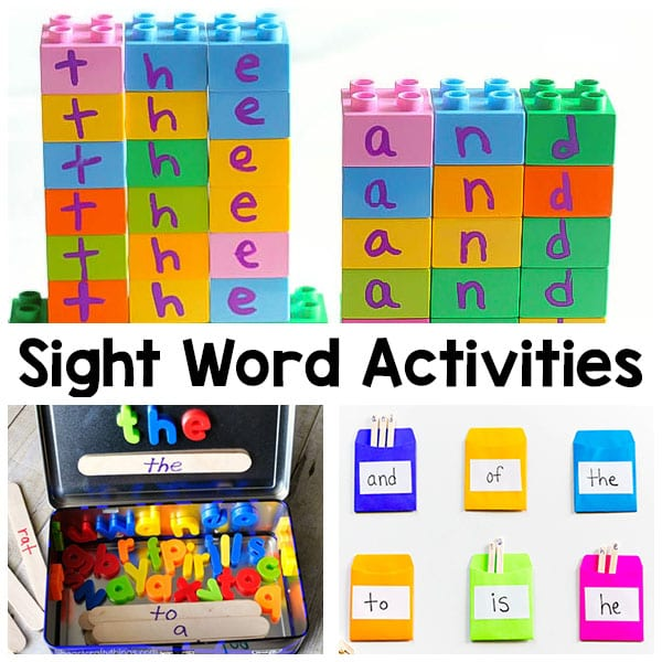 Sight word activities that are fun and engaging for kids. Hands-on ways to learn sight words.