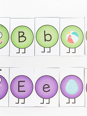 Spring theme printables letters and sounds caterpillars activity for preschoolers.