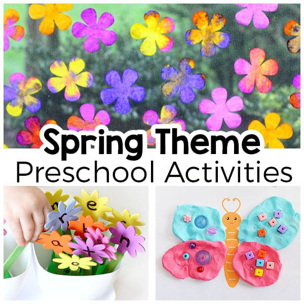 Spring theme activities for preschool and kindergarten. Fun learning and play activities for spring!