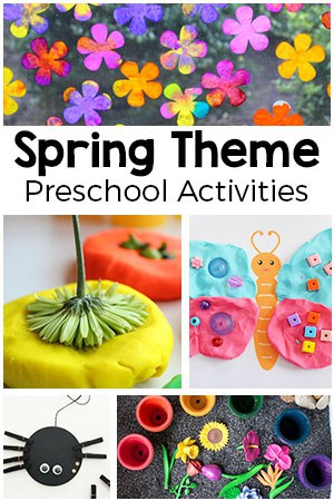 Spring theme preschool activities. From flowers to bugs to plants and more!