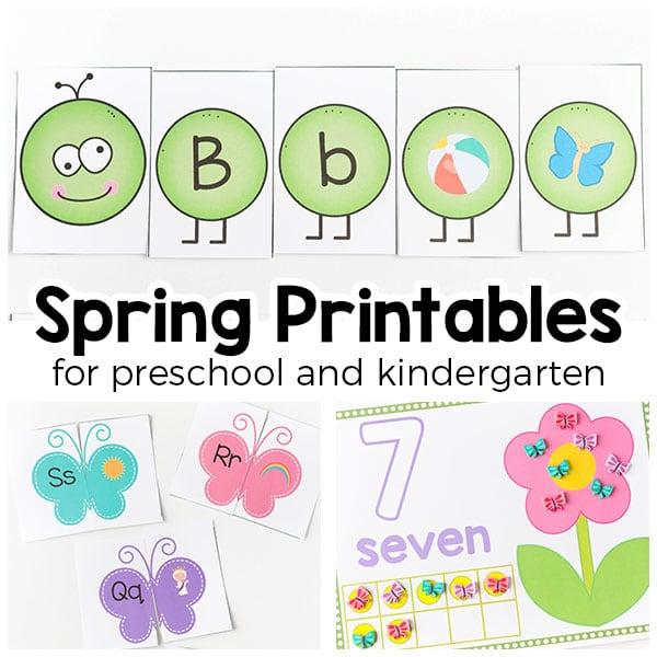 Spring Theme Printables And Activities For Preschool Kindergarten. Spring Theme Printables For Preschool And Kindergarten From Butterflies To Flowers Insects Frogs. Kindergarten. Spring Worksheets For Kindergarten Pdf At Clickcart.co