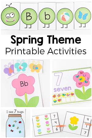 spring theme printables and activities for preschool and kindergarten. Black Bedroom Furniture Sets. Home Design Ideas