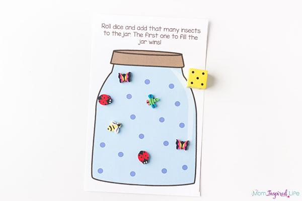 Bug jar counting game