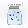Bug jar counting mats for preschool and kindergarten.