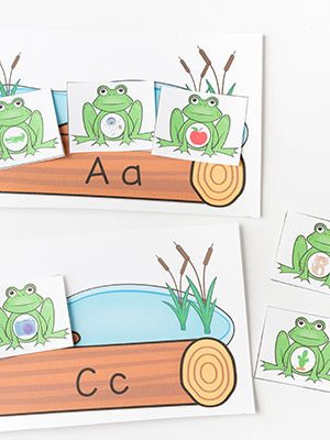Frog letters and sounds printable activity.