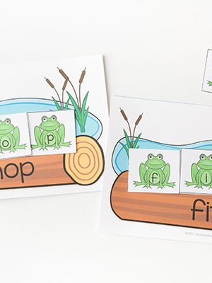 Frog CVC word family activity.