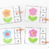 Spring flowers beginning sounds clip cards.