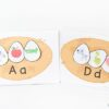 Spring bird nests alphabet activity to teach initial letter sounds.