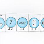 Number caterpillars preschool spring theme printables.