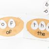 Sight word bird nests activity for spring.