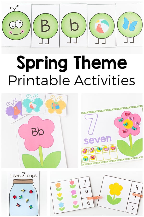 Spring Theme Printables And Activities For Preschool And Kindergarten