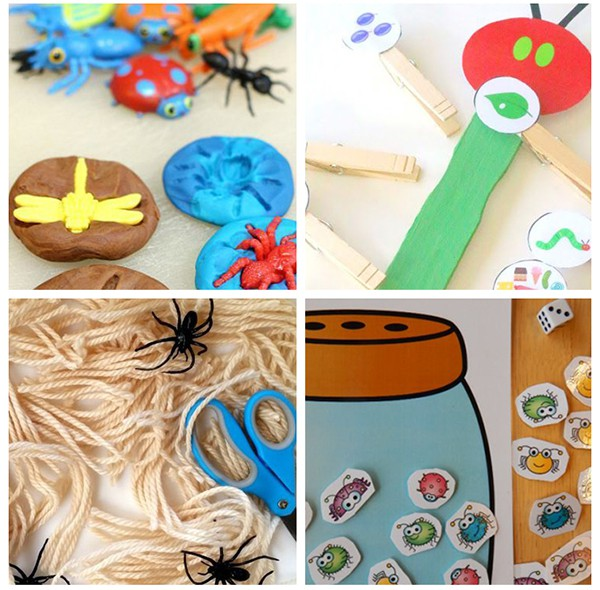 Fun insect activities for spring theme lesson plans.
