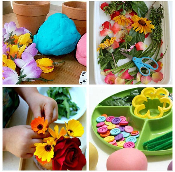 Flower activities for young kids.