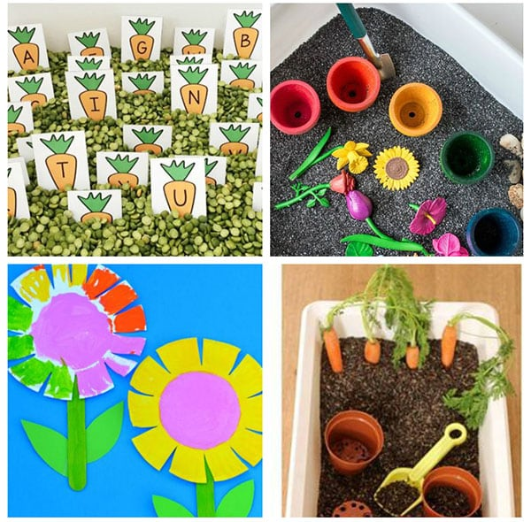 These activities are perfect for a spring flower theme.
