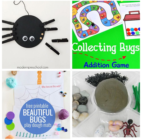 Bug activities for a spring theme.