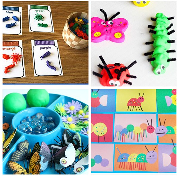 Spring bug activities for preschool and kindergarten.
