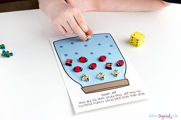 This bug math game is fun and engaging!