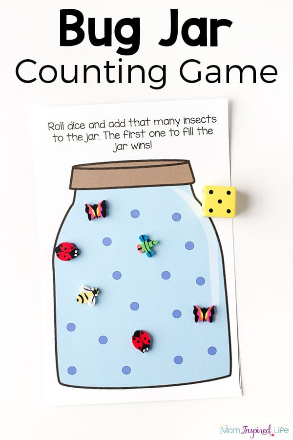 My kids loved this bug jar counting game! A fun activity for preschoolers!