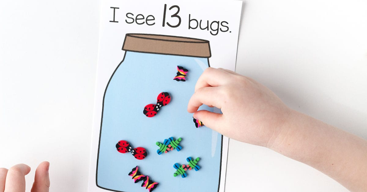 Bug Jar Counting Game For Kids