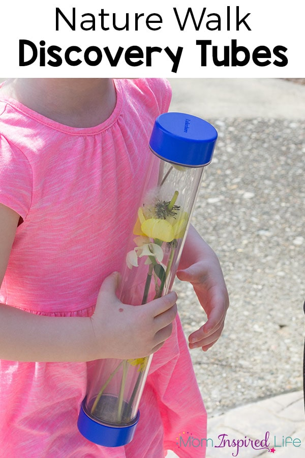 These nature walk discovery bottles are a fun science activity for young kids. These sensory bottles are sure to be a favorite!