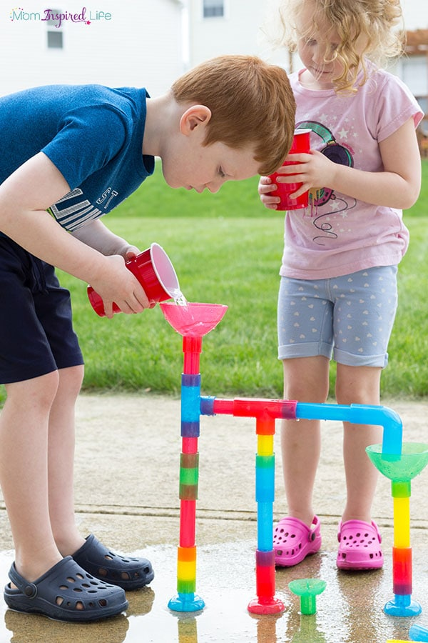 Water play activity for preschool and elementary.