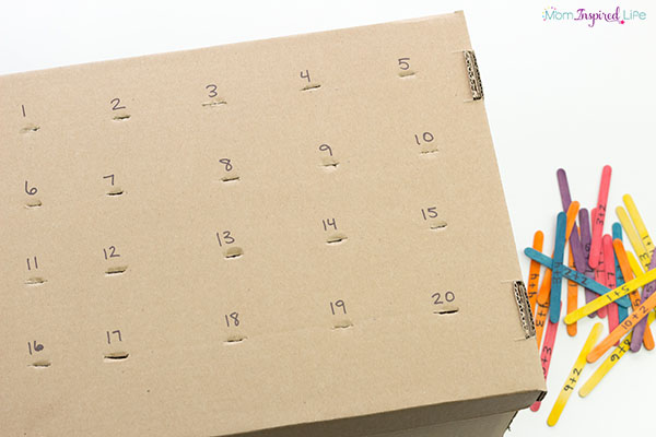 Practice math facts with a fun fine motor activity!