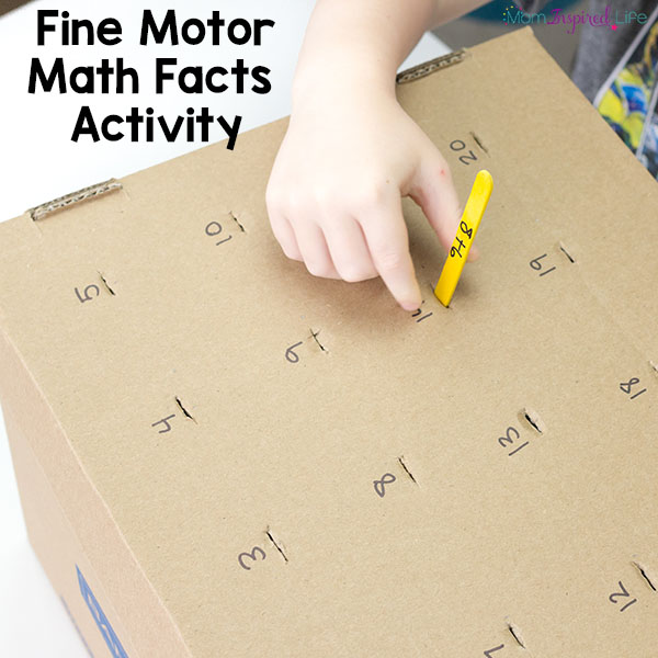 Memorize math facts with this hands-on math activity.